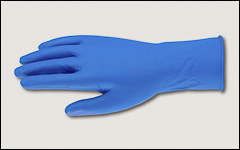 14 mil - Latex gloves, unlined, powder-free