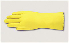 17 mil - Latex gloves, flock lined