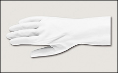 18 mil - Latex gloves, unlined, powder-free