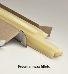 24 inch  straight pieces - Freeman wax fillets