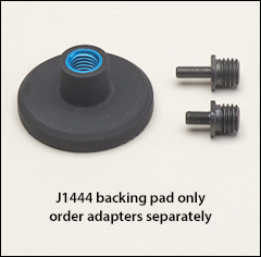 3 inch  hook and loop backing pad, stiff - Backing pads for wool buffs