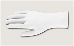 7 mil - Latex gloves, unlined, powder-free