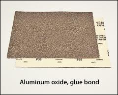 "Aluminum oxide, glue bond, 9 inch  x 11 inch  - 9"" x 11"" sheets"