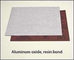 "Aluminum oxide, resin bond, 9 inch  x 11 inch  - 9"" x 11"" sheets"