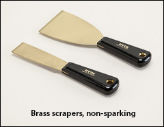 Brass scrapers, non-sparking - Putty knives, scrapers