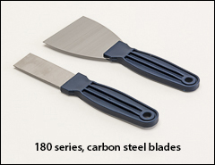 Carbon steel blades, polypropylene handles - Putty knives, scrapers