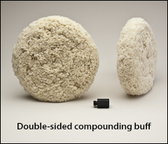 """Compounding buffs, double-sided - Buffs for 7½"""" pads"""