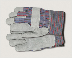 Cowhide leather palm gloves, heavy-duty - Abrasion resistant gloves