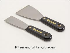 Full tang blades, black nylon handles - Putty knives, scrapers