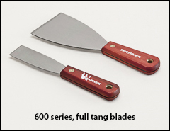 Full tang blades, wood handles - Putty knives, scrapers