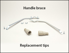 Handle brace and tip - Extension handles