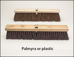 Heavy sweeping floor brushes - Push brooms, brooms