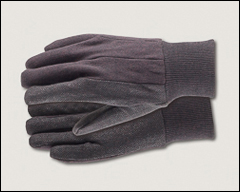 Jersey gloves with plastic grip dots - Abrasion resistant gloves
