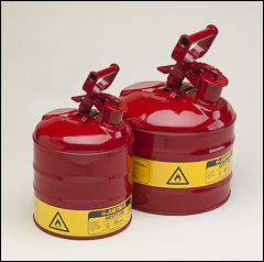 Justrite safety cans, Type 1 - Safety cans