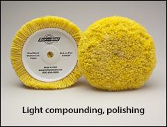 """Light compounding, polishing, #2 buffs - Buffs for 7½"""" pads"""