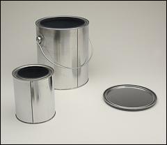 Metal paint cans - Cans, funnels, jug