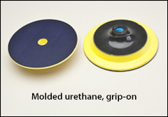 "Molded urethane pads for hook and loop buffs - Backing pads for 7<Fraction>1/2</Fraction>"" hook and loop buffs"