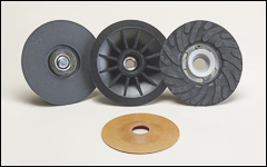 Pads for resin fiber and semiflex discs - Backing pads
