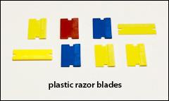 Plastic razor blade size scraper - Putty knives, scrapers
