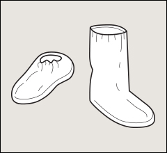 Shoe covers and boot covers, PosiWear BA - Sleeves, shoe covers