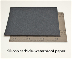 """Silicon carbide, waterproof paper - 9"""" x 11"""" sheets"""