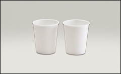 Single coated, hot cups - Paper tubs