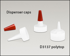 Spout caps for bottles listed above - Polyethylene bottles and caps