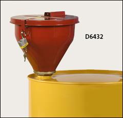 Steel funnel, self-closing cover - Drum deheaders, funnels