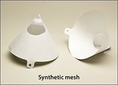 Synthetic mesh strainers, cone shaped - Paint strainers