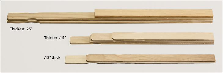 Wood paint paddles - Paint paddles, tongue depressors